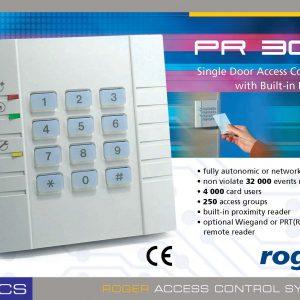 ประตูคีย์การ์ด KEYCARD ควบคุมด้วยคอมพิวเตอร์ ยี่ห้อ ROGER รุ่น PR302 สินค้าของแท้ คุณภาพสูง จากประเทศโปแลนด์ รับประกัน 4 ปีเต็ม