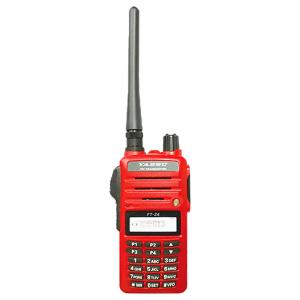 วิทยุสื่อสาร JAPAN ยี่ห้อ YAESU รุ่น FT- 24 สีแดง วิทยุสื่อสารประชาชน กันน้ำWaterproof Construction ลำโพงดัง 800mW วิทยุสื่อสารขอนแก่น ไมนิคส์
